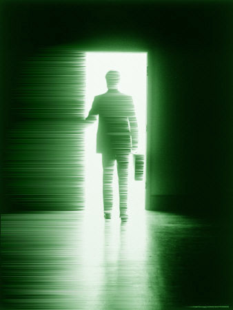 Image: Businessman in doorway