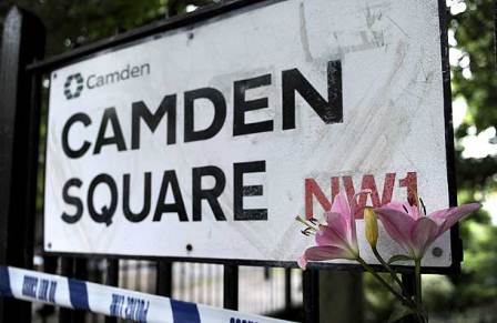 The square where Amy Winehouse's body was found